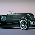 Edsel Ford Model 40 Special Speedster 1934 Painting by Paul Meijering