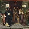 Eduardo Matania, Beim Pfandleiher 1870s by Eduardo Matania