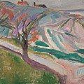 Edvard Munch , Landscape, Kragero by Edvard Munch