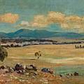 Edward Cairns Officer 1871-1921 Landscape by Edward Cairns Officer