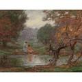 Edward Henry Potthast 1857 - 1927 October Days by Edward Henry Potthast