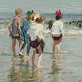 Edward Henry Potthast 1857 - 1927 Summer Day, Brighton Beach by Edward Henry Potthast