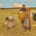 Edward Stott, A.r.a. 1859-1918 Harvesters by Edward Stott