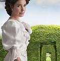 Edwardian Woman In A Summer Garden  by Lee Avison