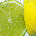 Effervescent Lime And Lemon By Kaye Menner by Kaye Menner