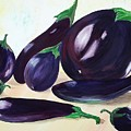 Eggplants by Murielle Hebert