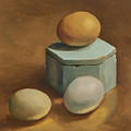 Eggs And Rustic Box by Carol Pascale