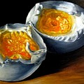 Eggs Contemporary Oil Painting On Canvas  by Natalja Picugina