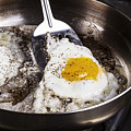 Eggs Cooked With Bacon Grease In Pan  by Thomas Baker