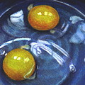 Eggs In Blue Bowl by Joyce Geleynse