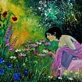 Eglantine With Flowers by Pol Ledent