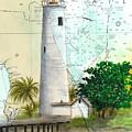Egmont Key Lighthouse Fl Nautical Map by Cathy Peek