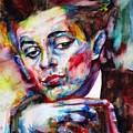 Egon Schiele - Watercolor Portrait.2 by Fabrizio Cassetta