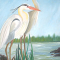 Egrets by AVK Arts