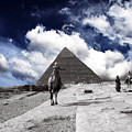 Egypt - Clouds Over Pyramid by Munir Alawi