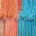 Egypt Coral And Turquoise From Mount Sinai Egypt by Yvonne Ayoub