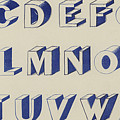 Egyptian For Carving Vintage Blue Font Design by English School