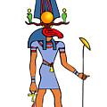 Egyptian God - Khensu by Michal Boubin