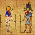 Egyptian Gods And Goddness by Michal Boubin