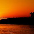 Egyptian Sunset On Lake Nasser by Julian Wicksteed