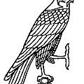 Egyptian Symbol: Falcon by Granger