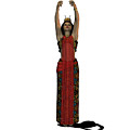 Egyptian Woman Dress by Corey Ford