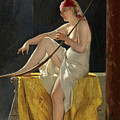 Egyptian Woman With Harp by Luis Ricardo Falero