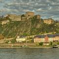 Ehrenbreitstein Fortress On The Rhine by Constance Puttkemery
