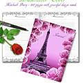 Eiffel Tower And Roses Travel Journal  by Irina Sztukowski