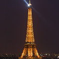 Eiffel Tower At Night by Clarence Holmes