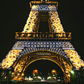 Eiffel Tower At Night by Hans Jankowski
