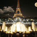 Eiffel Tower At Night by Jon Delorme
