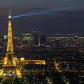 Eiffel Tower At Night by Sebastian Musial