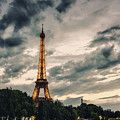 Eiffel Tower At Sunset Blue Hour by Alissa Beth Photography