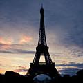 Eiffel Tower At Sunset, Paris, France by Photo by rachel kara