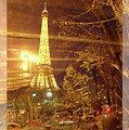 Eiffel Tower By Bus Tour Greeting Card Poster by Felipe Adan Lerma