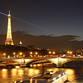Eiffel Tower By Night by Wilko Van de Kamp