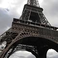Eiffel Tower Clouds II Paris France by John Shiron