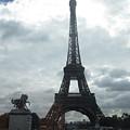 Eiffel Tower Clouds Paris France by John Shiron