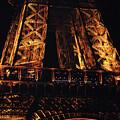 Eiffel Tower Illuminated At Night First Floor Deck Paris France by Shawn O'Brien