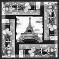 Eiffel Tower In Black And White Design I by Irina Sztukowski