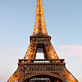 Eiffel Tower Lighted  by Dawn Crichton