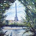 Eiffel Tower Paris France 2001   by Enver Larney