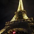 Eiffel Tower Red Light Paris France by John Shiron
