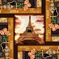 Eiffel Tower Roses Dance by Irina Sztukowski