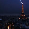Eiffel Tower Spotlight Paris France by Lawrence S Richardson Jr