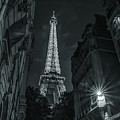 Eiffel Tower Standing Tall At Night by Alissa Beth Photography