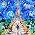Eiffel Tower Starry Night Romance by Karen Tarlton