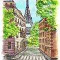 Eiffel Tower Summer Paris Day by Irina Sztukowski