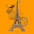 Eiffel Tower T Shirt Design by Bellesouth Studio